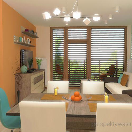 projekt-kuchni-salonu-projektowanie-wnętrz-lublin-perspektywa-studio-kuchnia-styl-nowoczesny-kolor-pomarańczowy-fototapeta-z-oknem-fronty-lakierowne-i-drewno-w-kuchni-Wojna-klonów-3