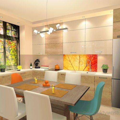 projekt-kuchni-salonu-projektowanie-wnętrz-lublin-perspektywa-studio-kuchnia-styl-nowoczesny-kolor-pomarańczowy-fototapeta-z-oknem-fronty-lakierowne-i-drewno-w-kuchni-Wojna-klonów-4