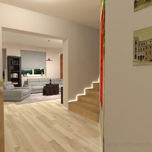 projekt-kuchni-salonu-projektowanie-wnętrz-lublin-perspektywa-studio-kuchnia-szaro-biała-styl-minimalistyczny-lodówka-side-by-side-salon-kominek-narożny-przedpokój-Czerwone-drzwi-do-nikąd-9