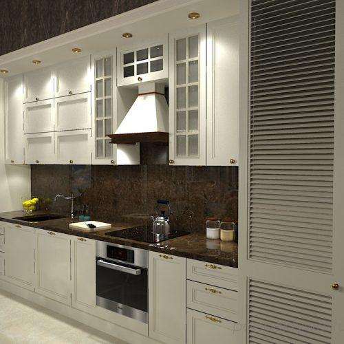projekt-kuchni-salonu-projektowanie-wnętrz-lublin-perspektywa-studio-kuchnia-z-salonem-styl-kalsyczny-z-białymi-meblami-kamienica-styl-angielski-Borowik-szlachecki-2