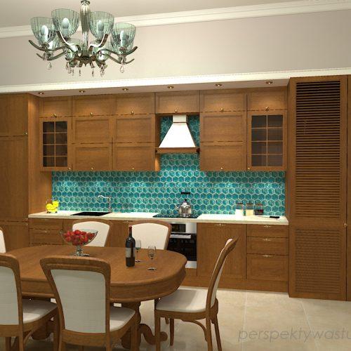 projekt-kuchni-salonu-projektowanie-wnętrz-lublin-perspektywa-studio-kuchnia-z-salonem-styl-klasyczny-meble-dębowe-kamienica-mozaika-lazurowa-Wodogrzmoty-mickiewicza-1
