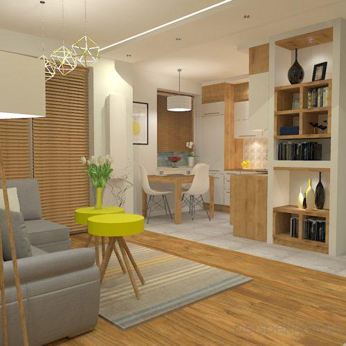 projekt-kuchni-salonu-projektowanie-wnętrz-lublin-perspektywa-studio-kuchnia-z-salonem-styl-nowoczesny-szara-podłoga-białe-drzwi-sufity-podwieszane-z-taśma-led-żółte-akcenty-Ananas-1