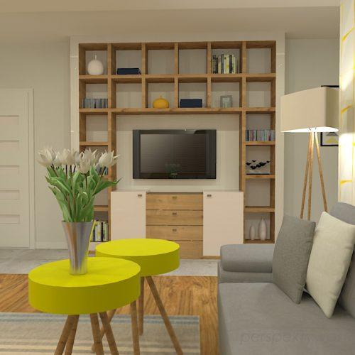 projekt-kuchni-salonu-projektowanie-wnętrz-lublin-perspektywa-studio-kuchnia-z-salonem-styl-nowoczesny-szara-podłoga-białe-drzwi-sufity-podwieszane-z-taśma-led-żółte-akcenty-Ananas-2