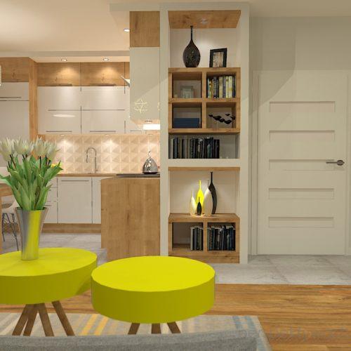 projekt-kuchni-salonu-projektowanie-wnętrz-lublin-perspektywa-studio-kuchnia-z-salonem-styl-nowoczesny-szara-podłoga-białe-drzwi-sufity-podwieszane-z-taśma-led-żółte-akcenty-Ananas-3