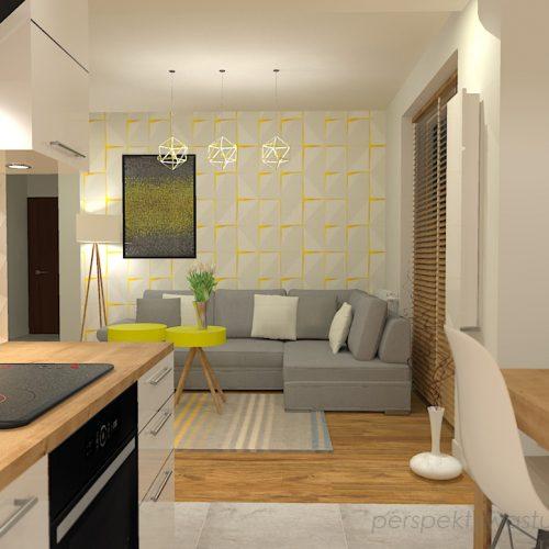 projekt-kuchni-salonu-projektowanie-wnętrz-lublin-perspektywa-studio-kuchnia-z-salonem-styl-nowoczesny-szara-podłoga-białe-drzwi-sufity-podwieszane-z-taśma-led-żółte-akcenty-Ananas-5
