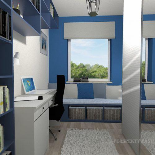 projekt-pokoju-projektowanie-wnętrz-lublin-perspektywa-studio-gabinet-do-pracy-regał-na-książki-niebieski-Schody-do-nieba-113