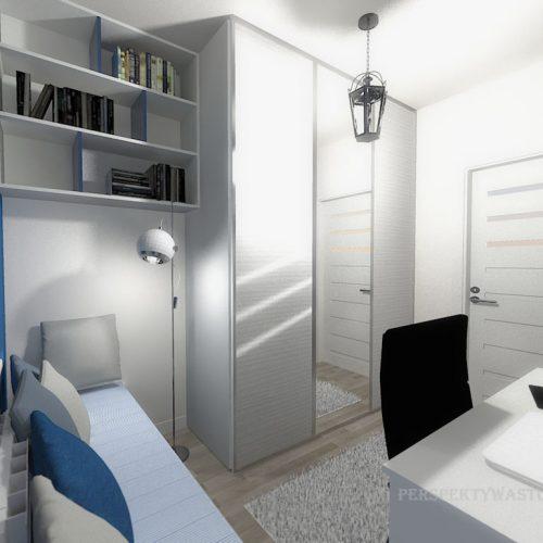 projekt-pokoju-projektowanie-wnętrz-lublin-perspektywa-studio-gabinet-do-pracy-regał-na-książki-niebieski-Schody-do-nieba-116