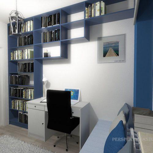 projekt-pokoju-projektowanie-wnętrz-lublin-perspektywa-studio-gabinet-do-pracy-regał-na-książki-niebieski-Schody-do-nieba-118