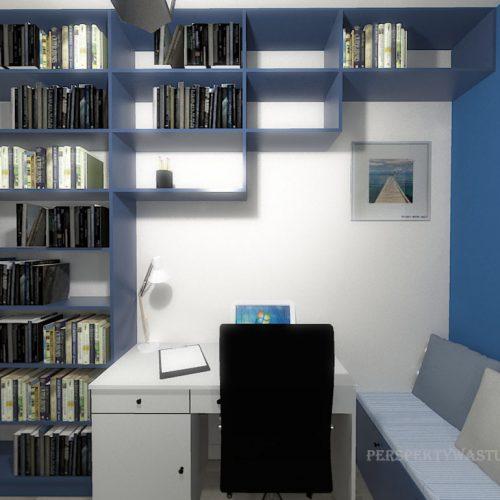 projekt-pokoju-projektowanie-wnętrz-lublin-perspektywa-studio-gabinet-do-pracy-regał-na-książki-niebieski-Schody-do-nieba-119