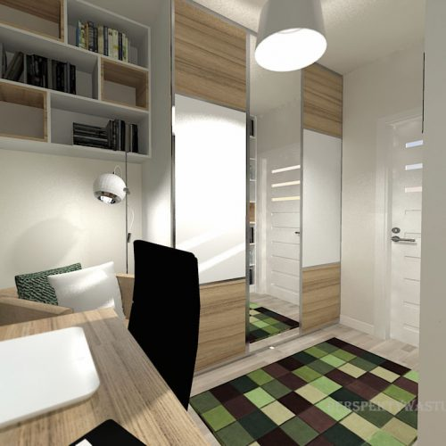 projekt-pokoju-projektowanie-wnętrz-lublin-perspektywa-studio-gabinet-do-pracy-regał-z-książkami-Oliwka-109