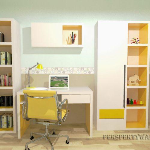 projekt-pokoju-projektowanie-wnętrz-lublin-perspektywa-studio-pokój-dziewczynki-6-lat-żółty-Lemonade-39