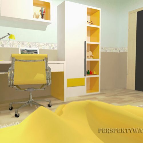 projekt-pokoju-projektowanie-wnętrz-lublin-perspektywa-studio-pokój-dziewczynki-6-lat-żółty-Lemonade-40