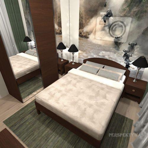 projekt-pokoju-projektowanie-wnętrz-lublin-perspektywa-studio-sypialnia-nowoczesna-brąz-zieleń-fototapeta-Gnu-89