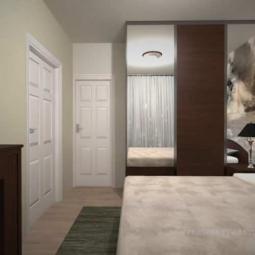 projekt-pokoju-projektowanie-wnętrz-lublin-perspektywa-studio-sypialnia-nowoczesna-brąz-zieleń-fototapeta-Gnu-95