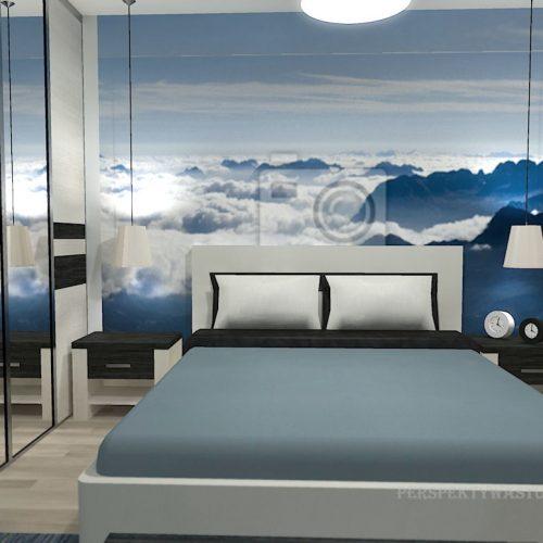 projekt-pokoju-projektowanie-wnętrz-lublin-perspektywa-studio-sypialnia-nowoczesna-z-tapetą-błękit-W-chmurach-27