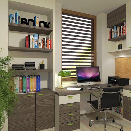 projekt-pokoju-salonu-projektowanie-wnętrz-lublin-perspektywa-studio-gabinet-w-jasnych-kolorach-z-miejcem-do-spania-dla-gości-Green-bus-1