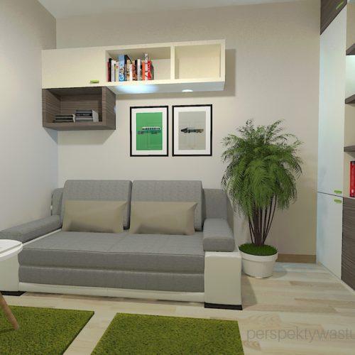projekt-pokoju-salonu-projektowanie-wnętrz-lublin-perspektywa-studio-gabinet-w-jasnych-kolorach-z-miejcem-do-spania-dla-gości-Green-bus-4