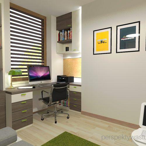 projekt-pokoju-salonu-projektowanie-wnętrz-lublin-perspektywa-studio-gabinet-w-jasnych-kolorach-z-miejcem-do-spania-dla-gości-Green-bus-6