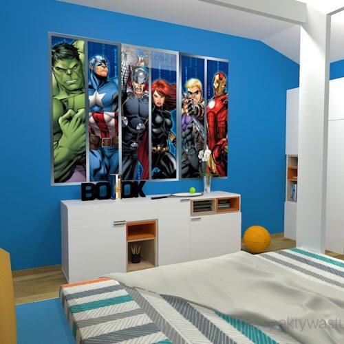 projekt-pokoju-salonu-projektowanie-wnętrz-lublin-perspektywa-studio-pokój-dla-chłopca-10-lat-Marvel-4