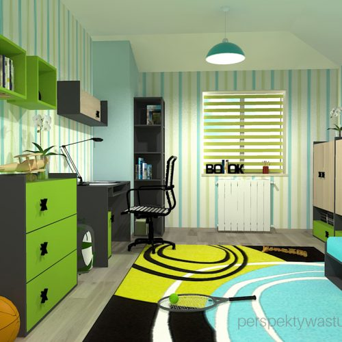 projekt-pokoju-salonu-projektowanie-wnętrz-lublin-perspektywa-studio-pokój-dla-chłopca-6-lat-Podróż-na-Gapę-2