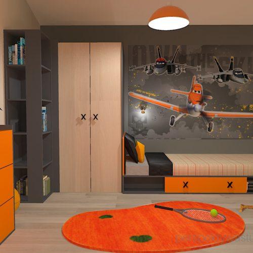 projekt-pokoju-salonu-projektowanie-wnętrz-lublin-perspektywa-studio-pokój-dla-chłopca-6-lat-pomarańczowy-Dusty-1