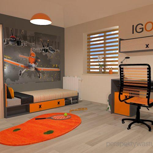 projekt-pokoju-salonu-projektowanie-wnętrz-lublin-perspektywa-studio-pokój-dla-chłopca-6-lat-pomarańczowy-Dusty-3