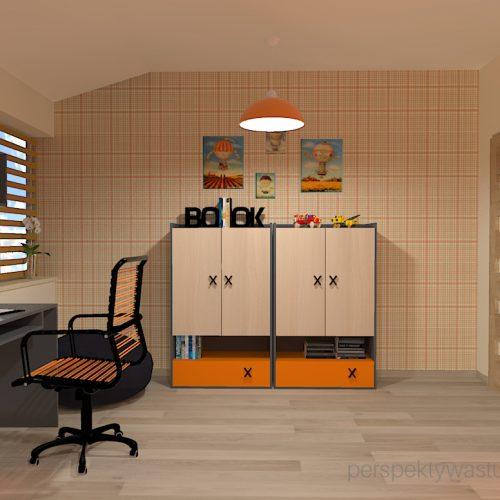 projekt-pokoju-salonu-projektowanie-wnętrz-lublin-perspektywa-studio-pokój-dla-chłopca-6-lat-pomarańczowy-Dusty-5