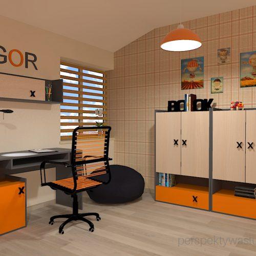 projekt-pokoju-salonu-projektowanie-wnętrz-lublin-perspektywa-studio-pokój-dla-chłopca-6-lat-pomarańczowy-Dusty-6