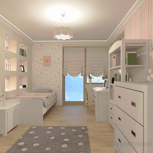 projekt-pokoju-salonu-projektowanie-wnętrz-lublin-perspektywa-studio-pokój-dziewczynki-6-lat-prostokatne-wnęki-kolor-róż-i-beż-Motyle-1