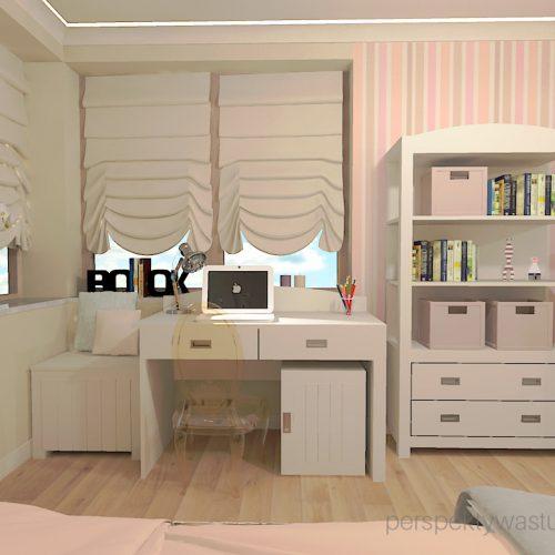 projekt-pokoju-salonu-projektowanie-wnętrz-lublin-perspektywa-studio-pokój-dziewczynki-6-lat-prostokatne-wnęki-kolor-róż-i-beż-Motyle-4