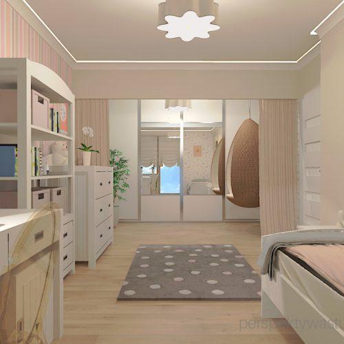 projekt-pokoju-salonu-projektowanie-wnętrz-lublin-perspektywa-studio-pokój-dziewczynki-6-lat-prostokatne-wnęki-kolor-róż-i-beż-Motyle-5