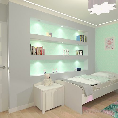 projekt-pokoju-salonu-projektowanie-wnętrz-lublin-perspektywa-studio-pokój-dziewczynki-6-lat-wnęki-w-pokoju-dziecka-garderoba-kolor-szary-i-mietowy-tapeta-Czuje-miętę-1
