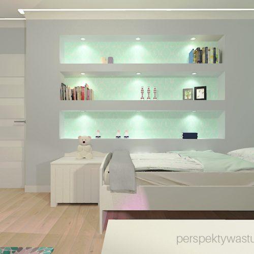 projekt-pokoju-salonu-projektowanie-wnętrz-lublin-perspektywa-studio-pokój-dziewczynki-6-lat-wnęki-w-pokoju-dziecka-garderoba-kolor-szary-i-mietowy-tapeta-Czuje-miętę-2