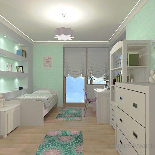 projekt-pokoju-salonu-projektowanie-wnętrz-lublin-perspektywa-studio-pokój-dziewczynki-6-lat-wnęki-w-pokoju-dziecka-garderoba-kolor-szary-i-mietowy-tapeta-Czuje-miętę-4