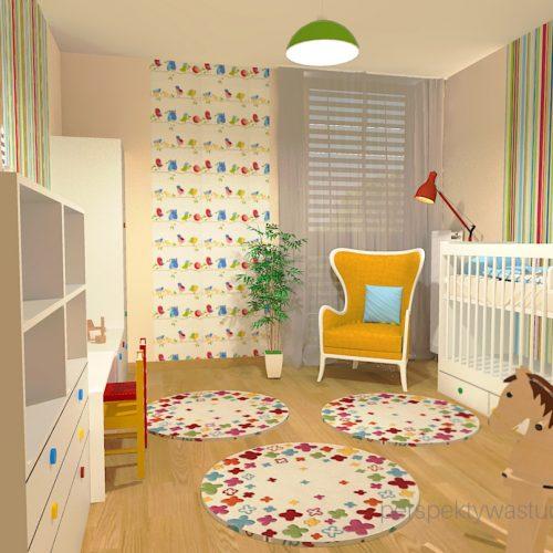 projekt-pokoju-salonu-projektowanie-wnętrz-lublin-perspektywa-studio-pokoj-dziewczynki-2-lata-kolorowy-tapety-meble-z-ikei-Moc-kolorów-1