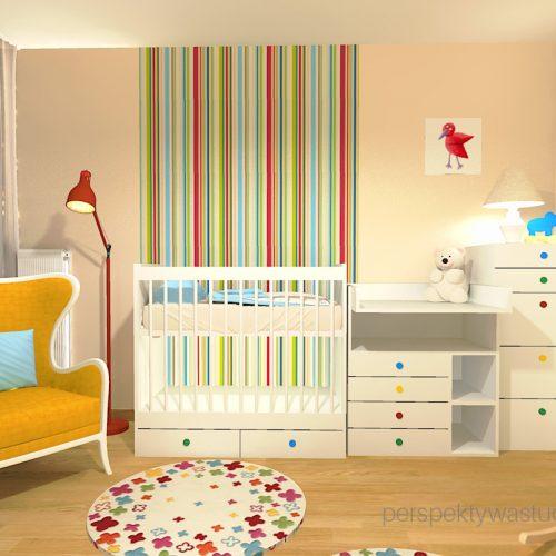 projekt-pokoju-salonu-projektowanie-wnętrz-lublin-perspektywa-studio-pokoj-dziewczynki-2-lata-kolorowy-tapety-meble-z-ikei-Moc-kolorów-5