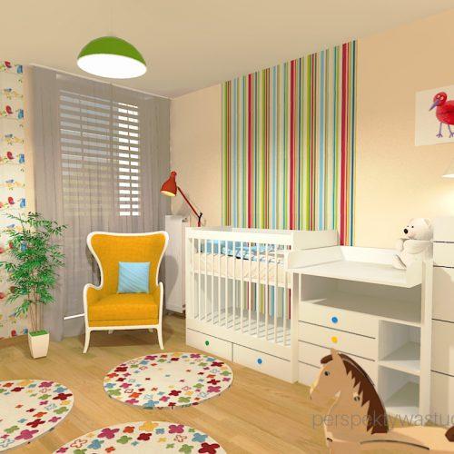 projekt-pokoju-salonu-projektowanie-wnętrz-lublin-perspektywa-studio-pokoj-dziewczynki-2-lata-kolorowy-tapety-meble-z-ikei-Moc-kolorów-6