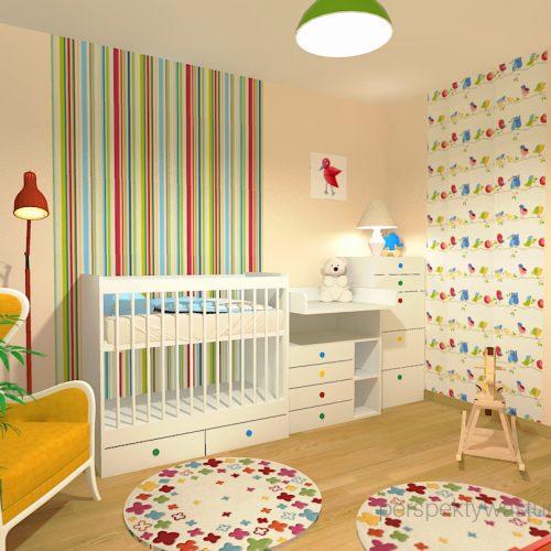 projekt-pokoju-salonu-projektowanie-wnętrz-lublin-perspektywa-studio-pokoj-dziewczynki-2-lata-kolorowy-tapety-meble-z-ikei-Moc-kolorów-7