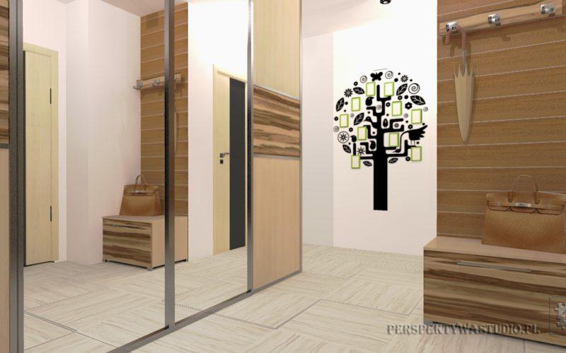 projekt-przedpokoju-projektowanie-wnętrz-lublin-perspektywa-studio-przedpokój-Drzewo-2