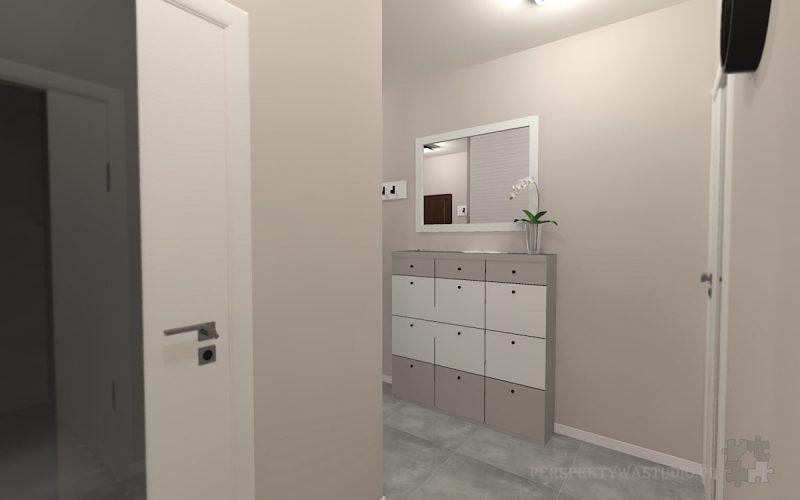 projekt-przedpokoju-projektowanie-wnętrz-lublin-perspektywa-studio-przedpokój-Nowoczesna-biel-1