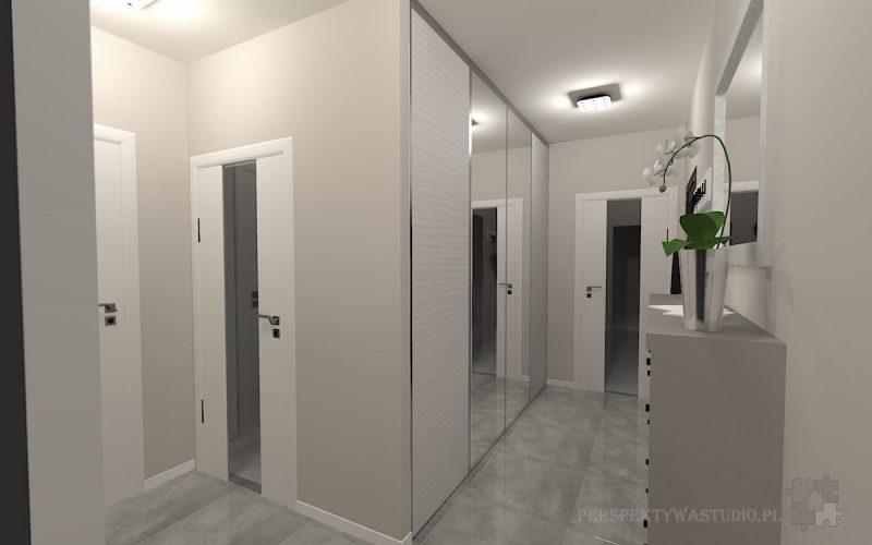 projekt-przedpokoju-projektowanie-wnętrz-lublin-perspektywa-studio-przedpokój-Nowoczesna-biel-3