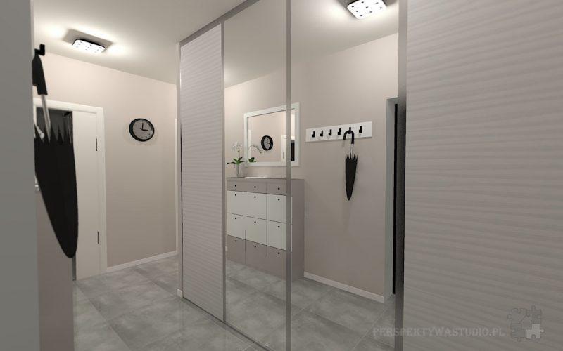 projekt-przedpokoju-projektowanie-wnętrz-lublin-perspektywa-studio-przedpokój-Nowoczesna-biel-4