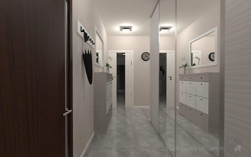 projekt-przedpokoju-projektowanie-wnętrz-lublin-perspektywa-studio-przedpokój-Nowoczesna-biel-5