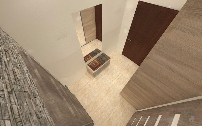 projekt-przedpokoju-projektowanie-wnętrz-lublin-perspektywa-studio-przedpokój-Trawertyn-3