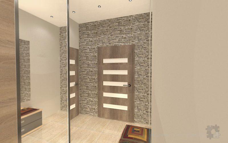projekt-przedpokoju-projektowanie-wnętrz-lublin-perspektywa-studio-przedpokój-Trawertyn-4