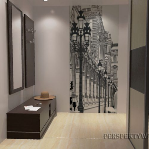 projekt-przedpokoju-projektowanie-wnętrz-lublin-perspektywa-studio-przedpokój-Uliczka-2