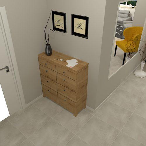 projekt-przedpokoju-projektowanie-wnętrz-lublin-perspektywa-studio-przedpokój-minimalistyczny-lustro-klejone-na-ścinie-białe-drzwi-Epoxy-3