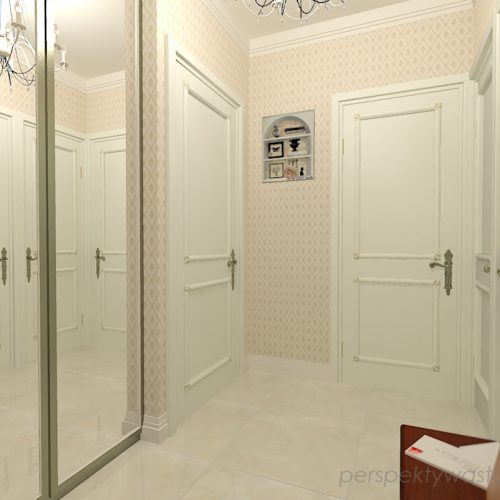 projekt-przedpokoju-projektowanie-wnętrz-lublin-perspektywa-studio-przedpokój-w-kamienicy-styl-klasyczny-białe-drzwi-3