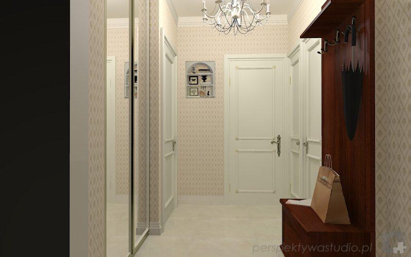 projekt-przedpokoju-projektowanie-wnętrz-lublin-perspektywa-studio-przedpokój-w-kamienicy-styl-klasyczny-białe-drzwi-4