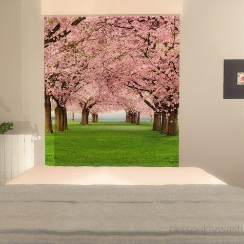 projekt-sypialni-projektowanie-wnętrz-lublin-perspektywa-studio-sypialnia-nowoczesna-meble-dębowe-fototapeta-powiększająca-wnętrze-baldachim-z-tasmą-led-Kwiat-jabłoni-12